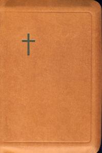 Virsikirja, tasku KPV34K, nahkakansi, 8x11cm, suojareuna, kultasyrjä, ruskea