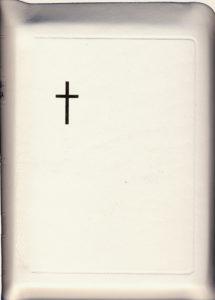 Virsikirja, tasku KPV38K, nahkakansi, 8x11cm, suojareuna, kultasyrjä, valkoinen
