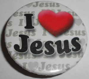 Badge, I Love Jesus