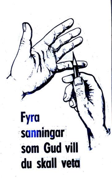 Neljä asiaa, jotka Jumala tahtoo sinun tietävän -traktaatti (ruotsinkielinen)