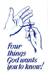 Neljä asiaa, jotka Jumala tahtoo sinun tietävän -traktaatti (englanninkielinen)