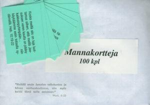 Mannakortit, 100 kpl
