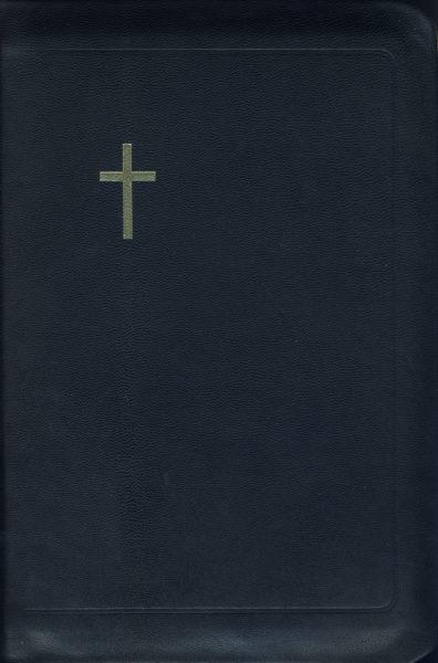 Virsikirja, tasku KPV36K, nahkakansi, 8x11 cm, suojareuna, kultasyrjä, musta