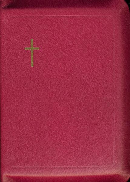 Virsikirja, tasku KPV14K, nahkakansi, 8x11 cm, suojareuna, kultasyrjä, fuksia