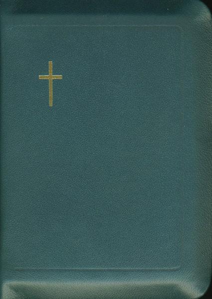 Virsikirja, tasku KPV17K, nahkakansi, 8x11cm, suojareuna, kultasyrjä, sinivihreä