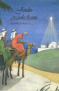 Jouluevankeliumi-kirjakortti (tietäjät)