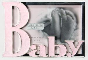 Baby-kehys emaloitu vaaleanpunainen
