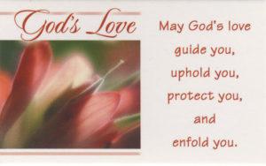 Pakettikortti, God's Love