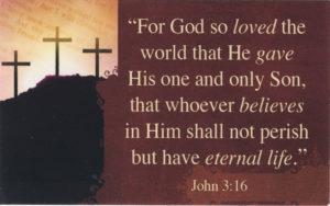 Pakettikortti: John 3:16