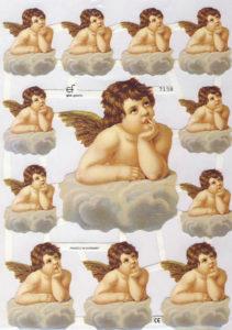 Kiiltokuvat -enkeli 12kpl