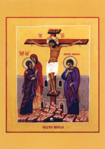 Kortti: Kristus ristillä