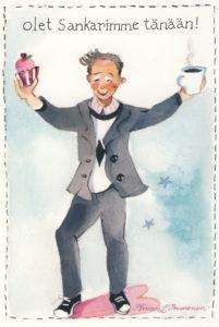 Iso avattava postikortti: Olet sankarimme (mies)