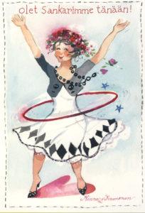 Iso avattava postikortti: Olet sankarimme (nainen)