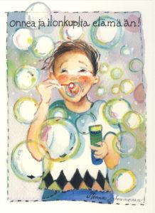 Iso avattava postikortti: Ilon kuplia