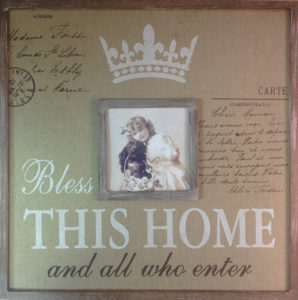 "Sisustustaulu ""Bless this home"""