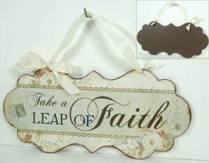 """Metallinen sisustuskyltti """"Take a Leap of Faith"""""""