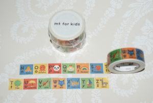 Kids aakkoset (N-Z) masking tape