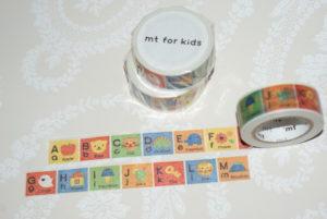 Kids aakkoset (A-M) masking tape