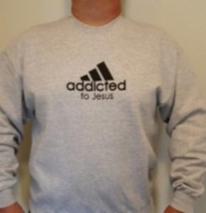 Collegepaita, Addicted to Jesus (XXL)