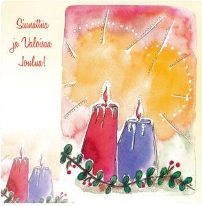 Siunattua ja Valoisaa Joulua -kortti
