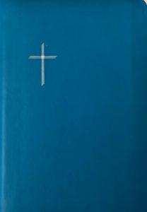 Raamattu, keskikoko, turkoosi, reunahakemisto