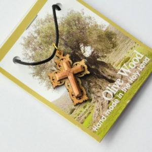 Kaulariipus, risti, koristeellinen, oliivipuu