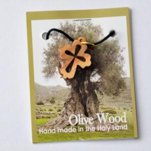 Kaulariipus, risti, pyöristetyt kulmat, oliivipuu