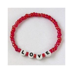 Fruit of The Spirit -rannekoru: LOVE (punainen)