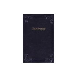 Taskuraamattu 33/38, musta, nahkakannet, vetoketju, reunahakemisto, kultaus