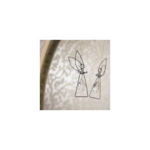 Valona Design - enkelikoriste (hopeanvärinen, pisara)