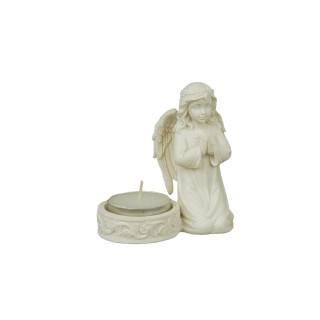Lämpökynttilän alusta, rukoileva enkeli (korkeus 9 cm)