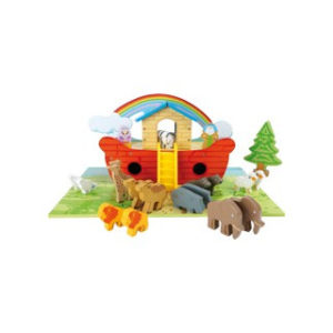 Puinen Nooan arkki -leikkisetti