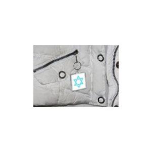 Daavidintähti -heijastin / avaimenperä
