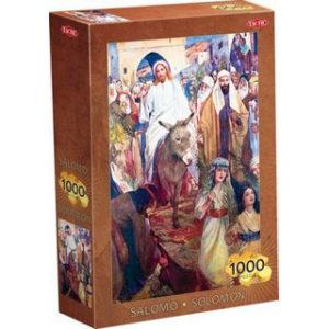 """Salomo Puzzle 1000 """"Jeesus ratsastaa Jerusalemiin"""" -palapeli"""