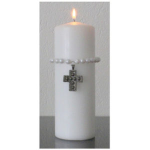 Kynttiläkoru: Helmikoru ristillä