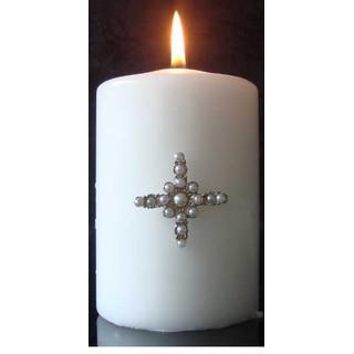 Kynttiläkoru: Helmiristi