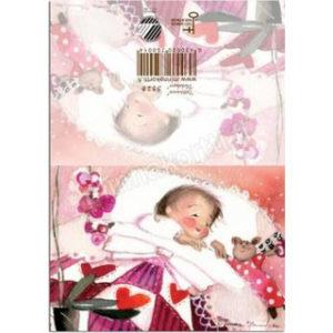 Pieni avattava kortti: Tyttövauva
