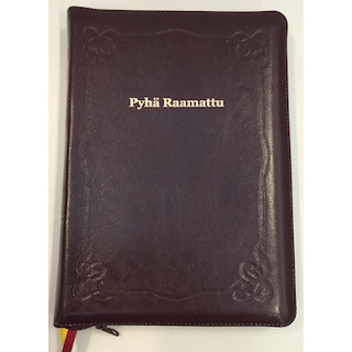 Pyhä Raamattu johdannoin 33/38 (isoteksti, viin.pun., vetoketju)