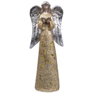 Kullanvärinen enkeli hopeasiivin (21cm)