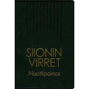 Siionin virret - nuottipainos, iso, 12x18cm, musta