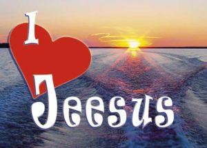 Postikortti, I love Jeesus
