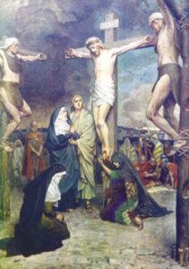 Postikortti, Jeesus ristillä