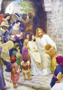 Postikortti, Jeesus siunaa lapsia