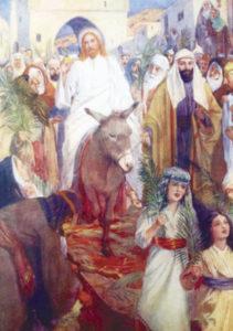 Postikortti, Jeesus ratsastaa Jerusalemiin