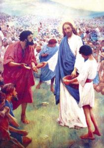 Postikortti, Jeesus ruokkii viisituhatta ihmistä