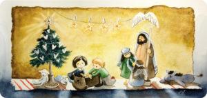 Lasten joulu -joulukortti