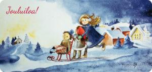 Joulukirkkoon -joulukortti