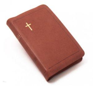Raamattu 1933/1938, keskikokoinen, vetoketju, reunahakemisto, ruskea