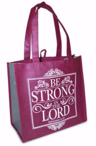 Eco tote -kassi, Be strong in the Lord