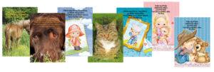 Lasten hengellinen onnittelukorttisarja (sis. 25 korttia)
